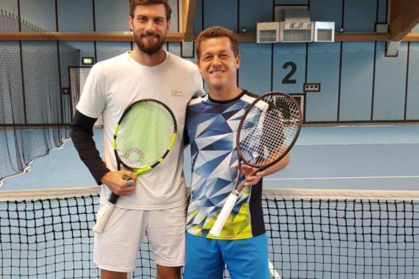 Ex-Profi Daniel Brands besucht die Tennisschule Raimund Knogler