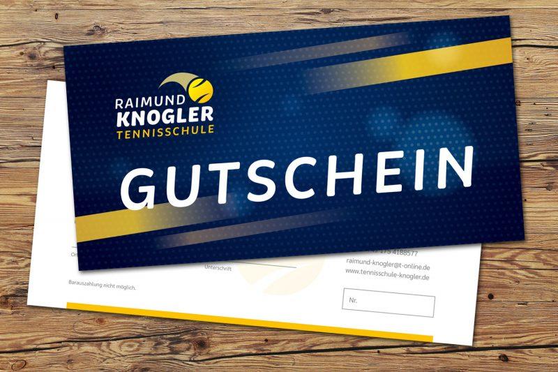 Gutschein Tennisschule Knogler